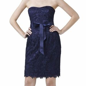 Adrianna Papell Navy Strapless Dress | Size 16